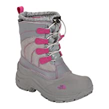 The North Face Girls' Alpenglow Lace Boots (Youth Sizes 13 - 7) - moonlight ivory/luminous pink, 3 youth