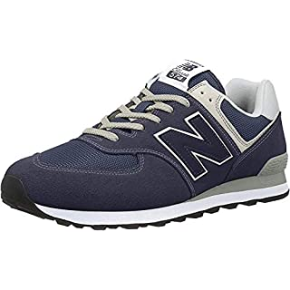 New Balance Men's 574 V2 Evergreen Sneaker, Black Iris/Black Iris, 14 M US