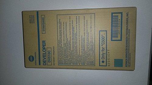 Konica-Minolta 0202 DV510C OEM Developer: Cyan Yields 100,000 Pages