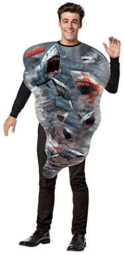 Sharknado Tornado Costumes (UHC Sharknado Get Real Tornado Outfit Humorous Theme Halloween Fancy Costume, OS (48-52))