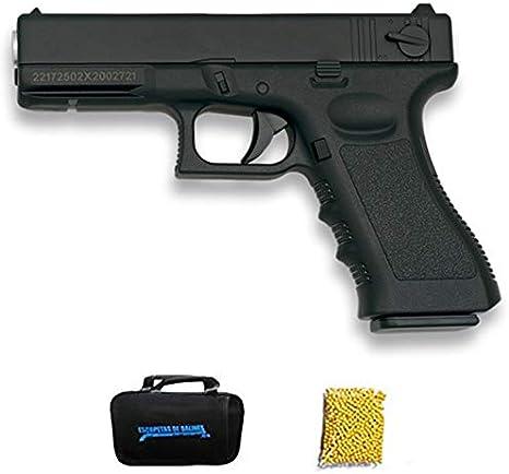 Golden Eagle Glock Negra | Pistola de Airsoft con Sistema Muelle para Bolas de 6mm. Potencia: <3,5 Julios
