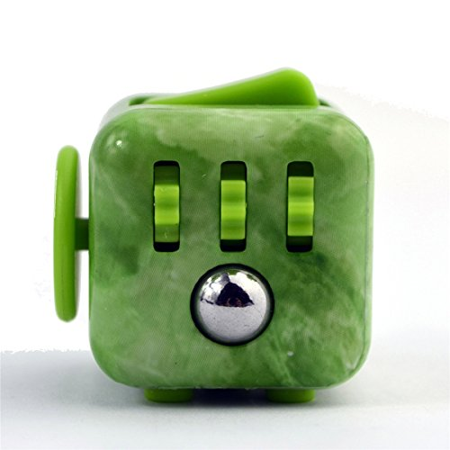 Price comparison product image Fidget Dice Anti-anxiety and Depression Cube for Children and Adults (Jade Green)