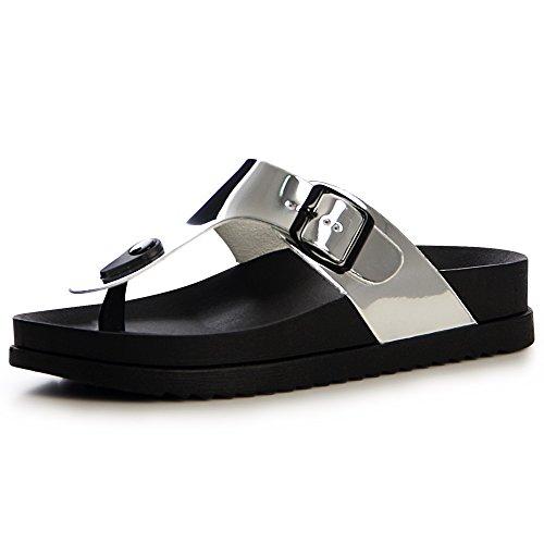 topschuhe24 Femmes Argent Sandales Sandalettes Sandalettes topschuhe24 Sandales Sandalettes Femmes topschuhe24 Argent Femmes Sandales aw4x5U4