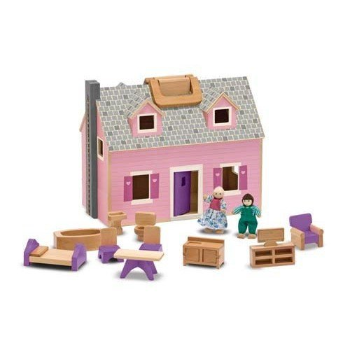 Serra Baby Melissa & Doug Wooden Portable Small Furnished Home by Serra Baby