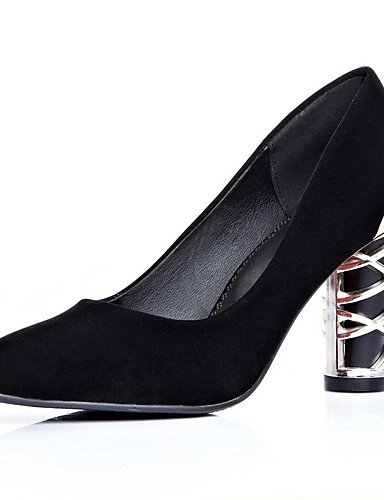 GGX/Damen Schuhe Fleece Sommer/quadratisch Fuß Heels Office & Karriere/Casual geschoben Ferse andere schwarz/blau/rot blue-us5 / eu35 / uk3 / cn34