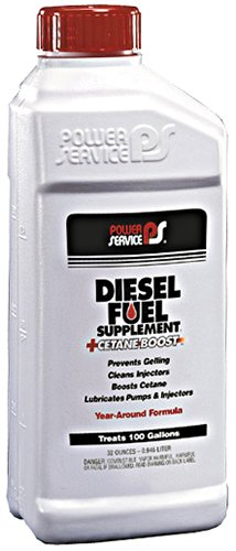 (Power Service 1025 32 Ounces + +Cetane Boost Diesel Fuel Supplement Anti-Freezer - 1 Quart)