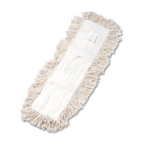 (UNISAN - Industrial Dust Mop Head, Hygrade Cotton, 24w x 5d, White 1324 (DMi EA by Unisan )