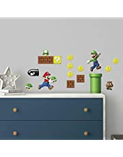 RoomMates RMK2351SCS Nintendo Super Mario Build a Scene Peel and Stick Wall Decal, 45 Count
