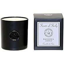 Baronessa Cali Scents of Sicily Bagheria (Sandalwood) Black Candle 9oz