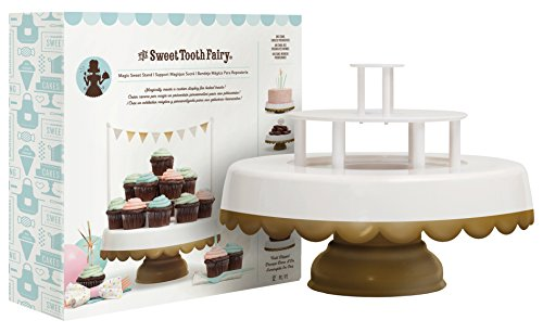 2-in-1 Decorative Cake and Cupcake Stand by Sweet Tooth Fairy | 2 or 3 Tier Cake Display Stand with Three Fun Sign Options | Stores -