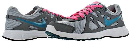 Nike Revolution 2, Zapatillas de Running para Hombre Wlf Grey/N Trq-CL Gry-Dgtl Pnk