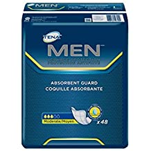 TENA Incontinence Guards for Men, Moderate Absorbency, 48 Count - Pack of 2