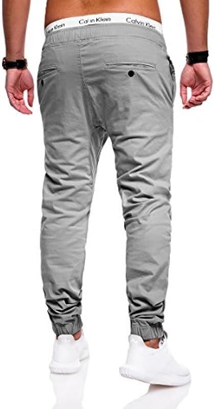 behype. Męskie spodnie jeansowe Chino Jogger 80-0060: Odzież