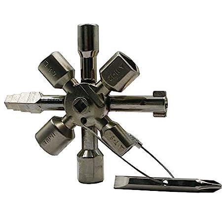 CAIDU Multifunctional Marine Tools Key Universal Control Cabinet Key Torque Wrenches Cross Key with 11 in 1 CNC Key Train Door Key