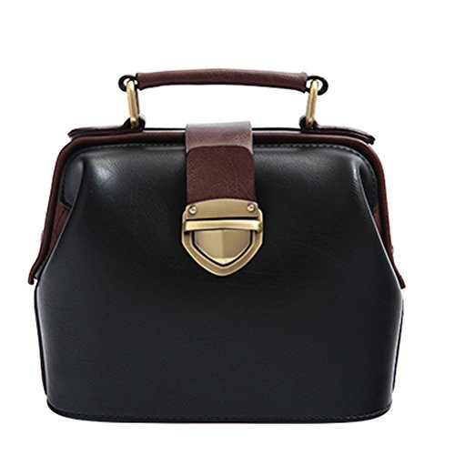 Donalworld Women Vintage Hobo Doctor Style Pu Leather Shoulder Bag (Vintage Box Purses)