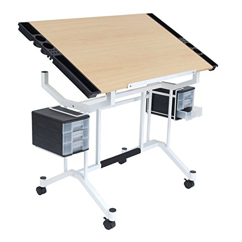 Drafting Station - Studio Designs Pro Craft Station in White with Maple 13245