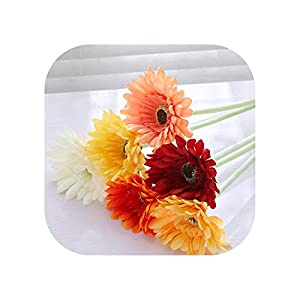 12Pcs/Lot Vivid Real Touch Gerbera Flowers Daisy Wedding Decoration Home Decoration Birthday Party Office Decor Fake Flowers 96