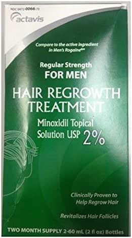 Mens Minoxidil Regular Strength Hair Regrowth Treatment 60 mL Solution 2 Bottles per Box (3 Boxes)