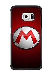 Samsung Galaxy S6 Edge Funda Case, Super Mario Hard Back Funda Case Durable Thin para S6 Edge (Not Fit para S6)