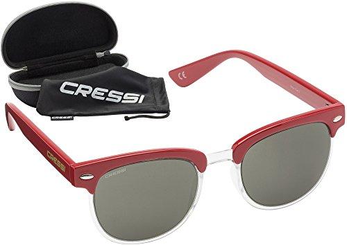100 UV hombre para cristales Rocker Cressi anti Oscuro Rojo polarizadas desol Gafas Gris Lente polarizados nHqUATaZ