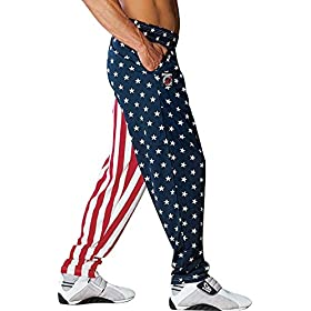 Otomix Men's American Flag USA Baggy Muscle Workout Pants