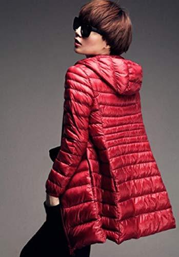 Energywomen Zip Ultra Plus Rosso Cappuccio Con up Leggero Outwear Con size Packable Piumino rwRUOr