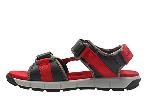 Clarks Jolly Crazy Jnr Boy's Casual Sandals 3.5 Red Combi