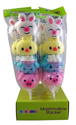 Vanilla Flavored Marshmallow Stacker Easter Lollipops, Pack of (Marshmallow Chocolate Lollipop)