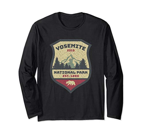 Yosemite National Park Campground Campers Hikers Souvenir Long Sleeve T-Shirt