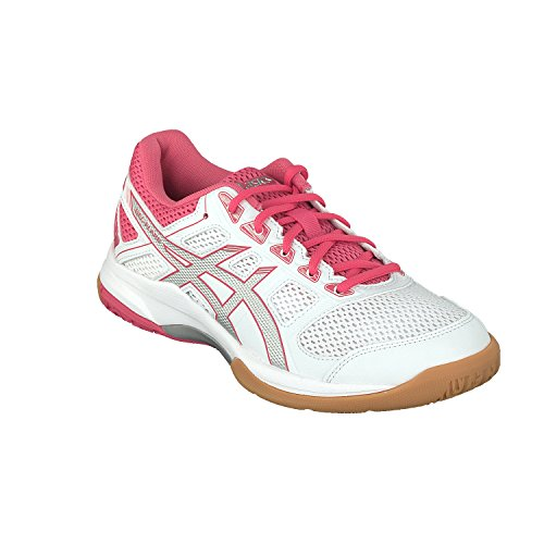 Silver Multisport Shoes Gel Rouge Indoor Flare Red Women's Multicolor White 6 000 Asics FzwI6qx