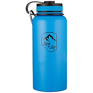 Stainless Steel Water Bottle - Wide Mouth Bottle - Insulated Water Bottle - Double Walled - Vacuum Insulated - Water Bottle 32 oz Insulated Thermos