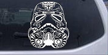 Decal Vinyl Truck Car Sticker Star Wars Stormtrooper Sugar Skull Helmet