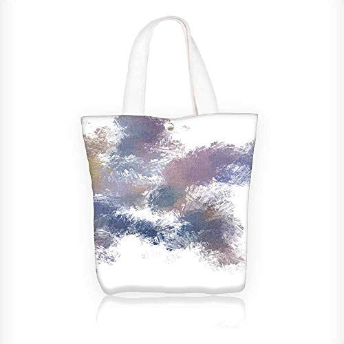 Brushed Canvas Mushroom - Canvas Tote Bag brushed painted background brush stroked paint Hanbag Women Shoulder Bag Fashion Tote Bag W16.5xH14xD7 INCH