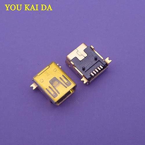 Gimax 50pcs Mini USB connector B type 5pin SMT//DIP USB socket female jack 2.0