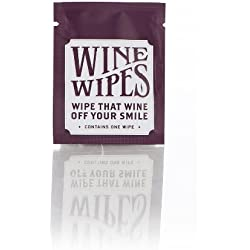 Wine Wipes Party Favors pack of 50 individual wipes