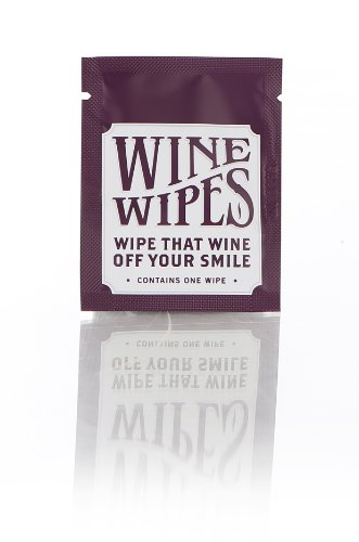 Wine Wipes Party Favors pack of 50 individual wipes (Wine Favors)