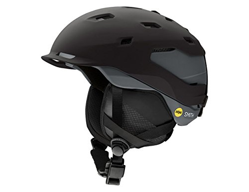 Smith Optics Quantum Adult Mips Ski Snowmobile Helmet - Matte Black Charcoal / X-Large (Helmet Mens Quantum)