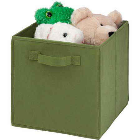 "Honey-Can-Do Collapsible Storage Cube, Non-Woven | 10.6""L x 10.6""W x 11.4""H (Set of 8 - Green)"