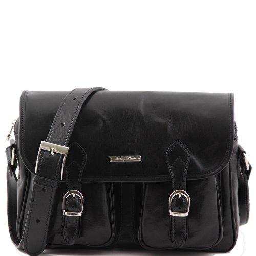 Tuscany Leather - Sac porté épaule cuir - Noir - Homme