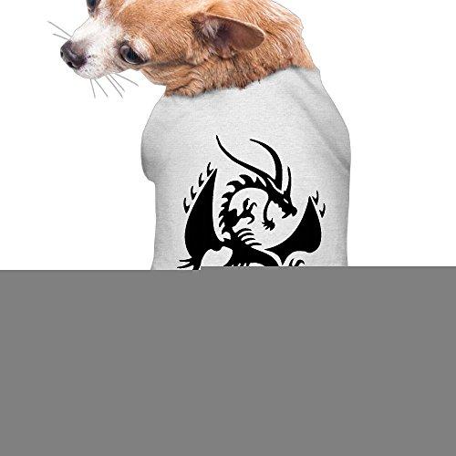 Dragon Quest 8 3ds Costumes (Dog Clothes Dragon Logo Pet Clothing Vest Cute Polyester Fiber Dog Dog Shirt)
