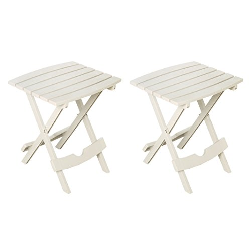 Adams Manufacturing 8500-48-4702 Quik-Fold Side Table, White/2 Pack