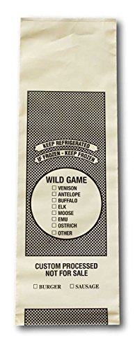 Wild Game Freezer Bags - 2 Lb. Size - Package of 100