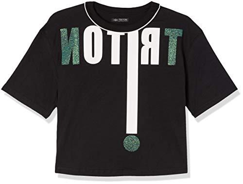 Triton Camiseta Estampada Masculino, P, Preto