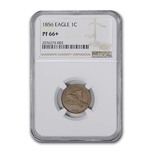 1856 Flying Eagle Cent PF-66+ NGC Cent PF-66 - Eagle Flying Cent 1856
