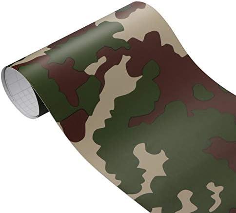 100cm Camouflage Autocollant de Voiture Vinyle PVC Wrap Film num/érique Woodland Militaire de larm/ée Verte Camo d/ésert Decal for Auto Moto HHF Autocollants 30cm Color Name : Forest 9204