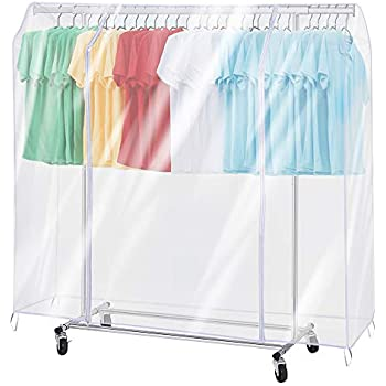 Amazon.com: hlc White Cloth Garment Rack Cover Home Bedroom ...
