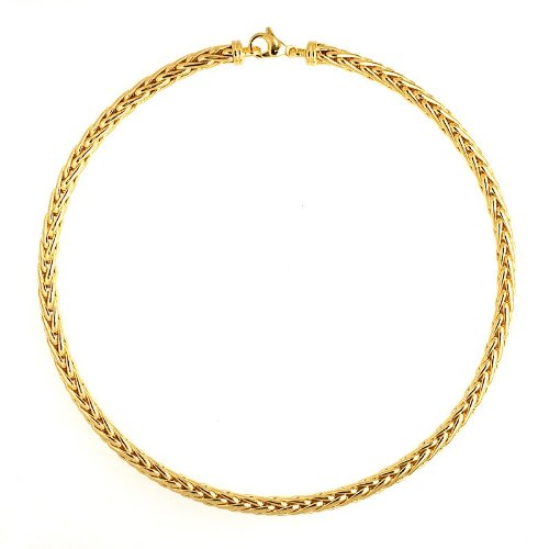 Blé jaune 18 carats 5,7 mm-JewelryWeb Bracelet poli