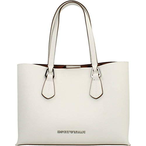 EMPORIO ARMANI SMOOTH SHOPPING BAG Y3D084YH19E Bianco