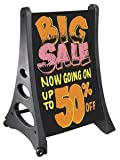 Magic Master BK-QLA-WO Qla Write-On/Wash-Off Sign With Black Sign Panels (Black)