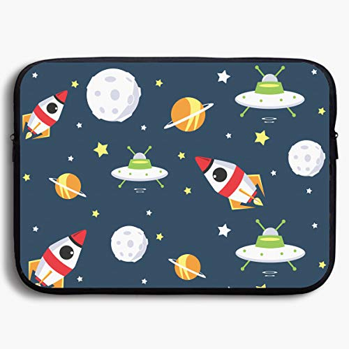 Homlife Laptop Sleeve Bag Space Cartoon Clip Arts 13/15 Inch Briefcase Sleeve Bags Cover Notebook Case Waterproof Portable Messenger ()